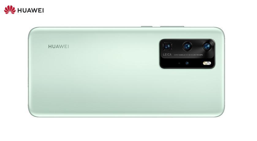 Huawei P40 Pro появился на пресс-рендере в расцветке Mint Green