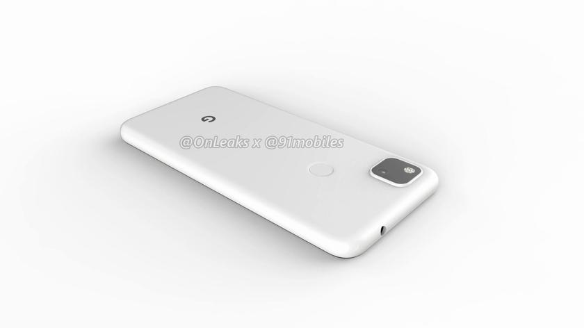 Первые рендеры Google Pixel 4a: «дырявый» дисплей и одна камера в квадратном блоке