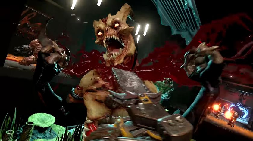 Больно смотреть: вновом трейлере DOOM Eternal демоны превращаются вфарш под металкор