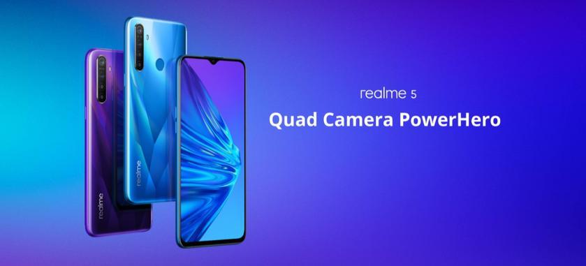 Realme 5 с чипом Snapdragon 665, батареей на 5000 мАч и ценником в €160 приехал в Европу