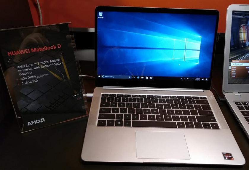 """Ноутбук Huawei MateBook D 14"""" получил процессор AMD Ryzen"""