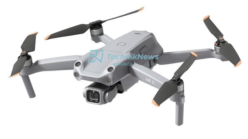 В сеть утекли качественные пресс-рендеры и характеристики дрона DJI Air 2S