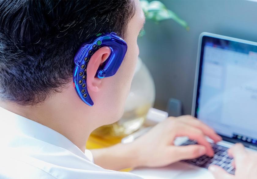 SERVO L9: кнопочный телефон-гарнитура для ношения за ухом