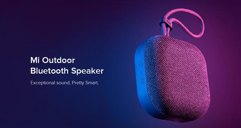 Xiaomi Mi Outdoor Bluetooth Speaker: компактная колонка с батареей на 2000 мАч, портом AUX, защитой IPX5 и ценником в $20