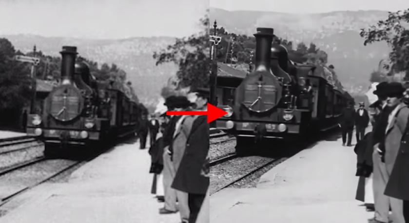 Магия ИИ: на YouTube опубликовали фильм «Прибытие поезда на вокзал Ла-Сьота» 1896 года с разрешением 4K 60fps