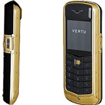 Vertu Constellation Gold 18 ct Black Leather