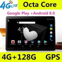 New 10 inch Octa Core 3G/4G Tablet pc 4GB RAM 128GB ROM 1920*1200 Dual Cameras Android 8.0 Tablets 10.1 inch Free Shipping