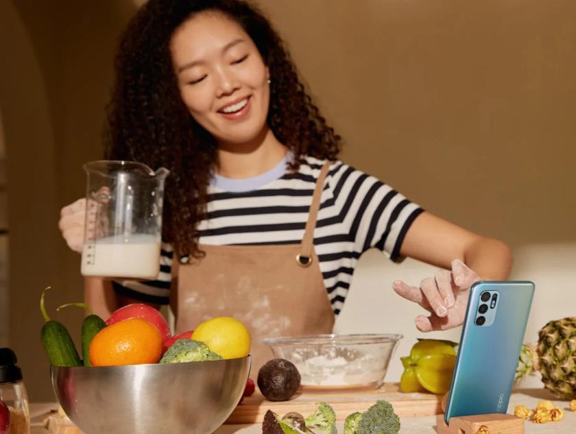 OPPO представила Reno 6 4G: еще одна версия смартфона с процессором Snapdragon 720G и дизайном Reno 6 Z за $360