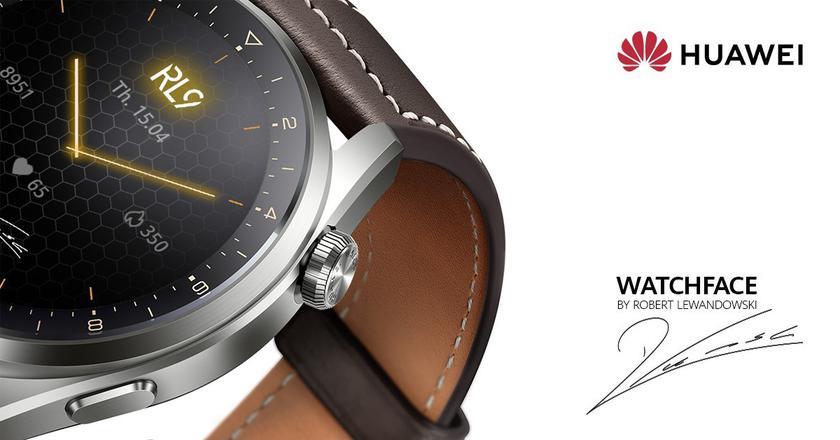 Смарт-часы Huawei Watch 3 и Watch 3 Pro получили специальный циферблат футболиста Роберта Левандовски