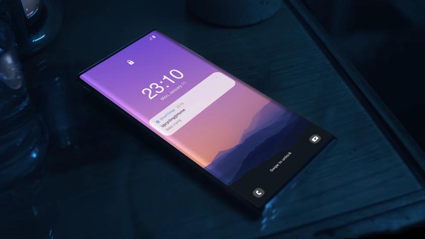В новом рекламном ролике Samsung «засветился» Galaxy Note следующего поколения с подэкранной камерой