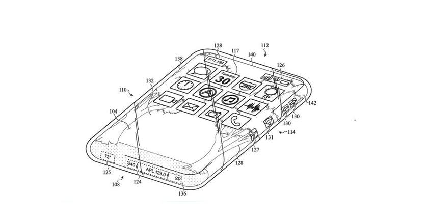 Apple запатентовала полностью стеклянный iPhone с дисплеем со всех сторон