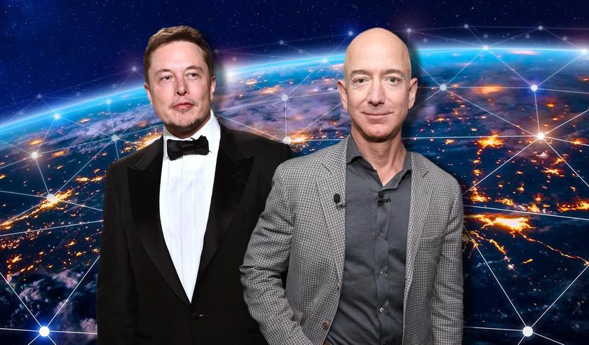 Amazon и SpaceX не могут поделить космос: Илон Маск заявляет, что конкуренты вставляют палки в колеса Starlink