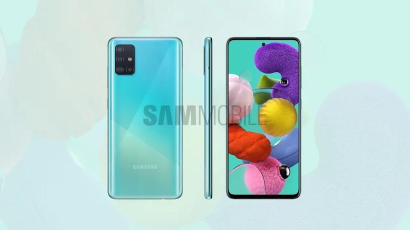 Характеристики и пресс-рендеры Samsung Galaxy A51: экран Infinity-O на 6.5″, камера на 48 Мп, чип Exynos 9611 и батарея на 4000 мАч (обновлено)
