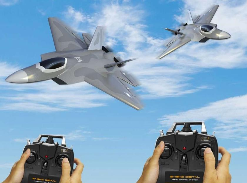 Eachine F22 Raptor: радиоуправляемая модель истребителя за $76 с функцией аэротрюков