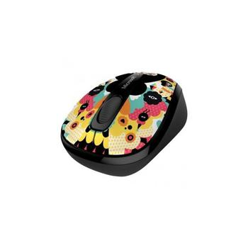 Microsoft Wireless Mobile Mouse 3500 Artist Edition Muxxi Black-Yellow USB