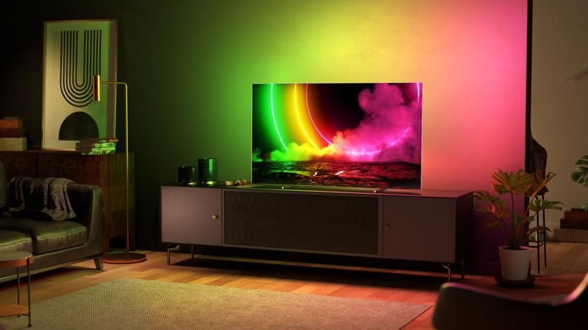 Philips OLED 806: телевизор, который умеет распознавать фильмы и освещение, с кожаным пультом в комплекте