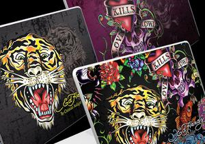 "9 наклеек Ed Hardy для 15"" MacBook"