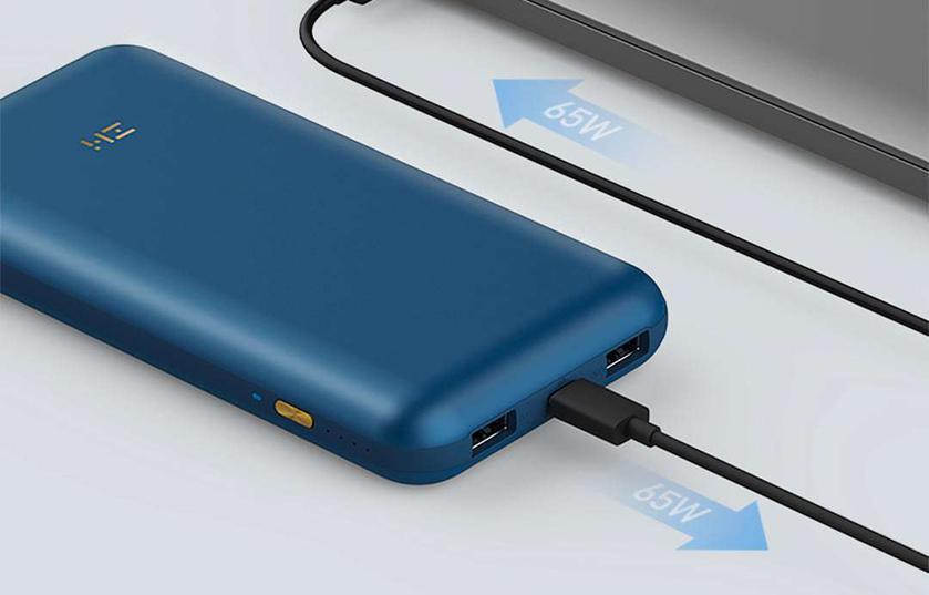 ZMI QB823: пауэрбанк на 20 А-ч с быстрой 65-ваттной зарядкой и USB-хабом за $65