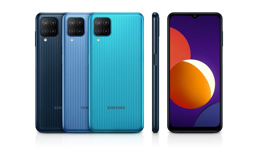 Samsung анонсировала Galaxy M12 c экраном Infinity-V, квадро-камерой на 48 МП и боковым сканером (на самом деле нет)