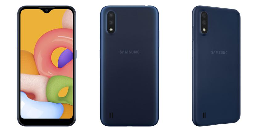 Samsung Galaxy A01: a new budget smartphone with 8 GB of RAM, 128 GB of ROM and a dual camera