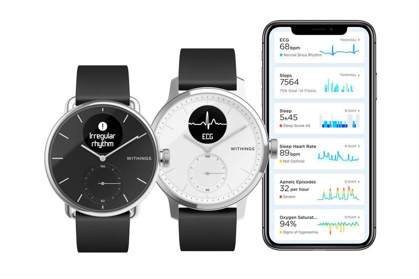 Withings ScanWatch — гибридные смарт-часы с ЭКГ, определяющие проблемы с сердцем, за $249
