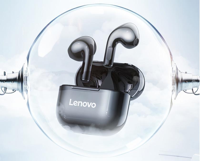 Lenovo LP40: полностью беспроводные вкладыши с защитой IPX5, портом USB-C и автономностью до 20 часов за $12