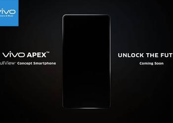 Vivo tizerit frameless APEX smartphone with a display fingerprint scanner