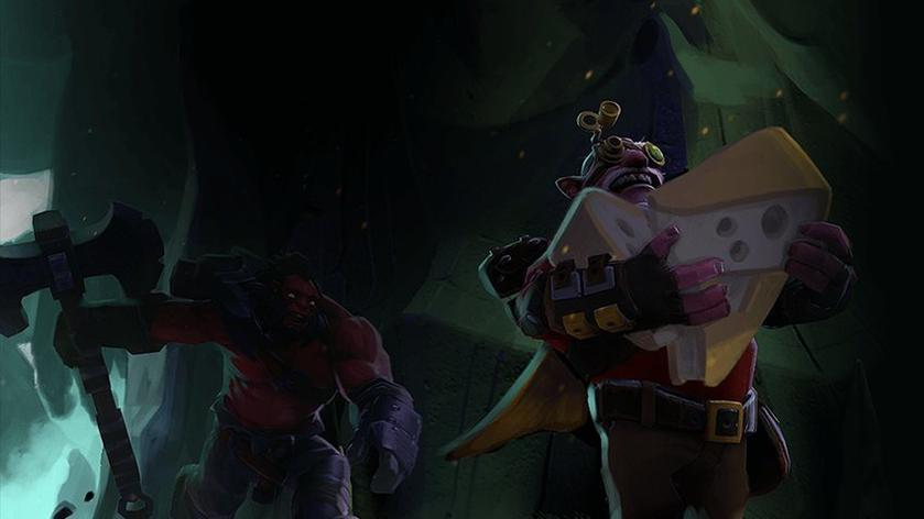 In Dota 2 there will be an analogue of the royal battle with caves and mad cheese
