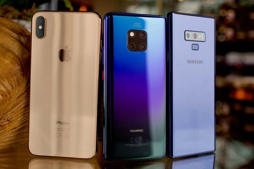 Samsung все еще лидирует на рынке смартфонов, но Huawei уже наступает на пятки