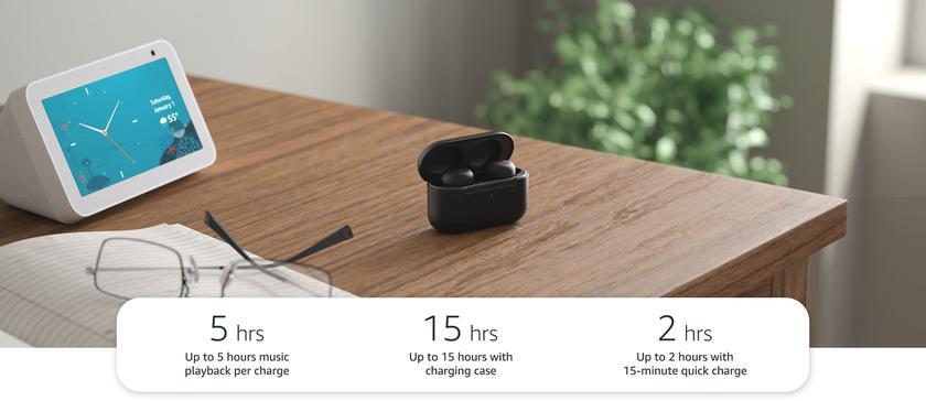 Amazon Echo Buds 2: беспроводные наушники с новой системой шумоподавления и автономностью до 15 часов за $120