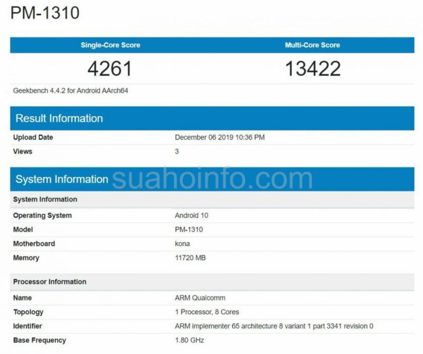 Смартфон Sony Xperia 3 протестировали в Geekbench