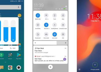 What will the interface look like MIUI 10: rounded edges and Android P-style