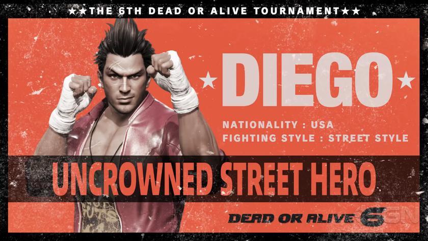 Трейлер Dead orAlive 6 показывает силу уличного бойца Диего вдействии