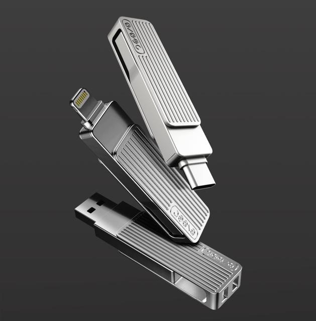 Xiaomi Jessis M: серия гибридных USB-флешек с разъемами USB-С и Lightning