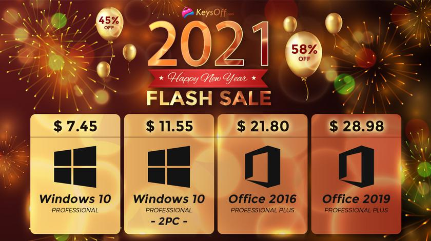 Первые скидки 2021 года: Windows 10 Pro по $7.45, Office 2019 Pro Plus за $28.98 и многое другое