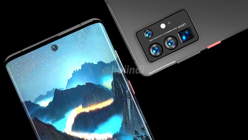 Huawei P50 Pro показали на новых рендерах: экран-«водопад» и квадрокамера
