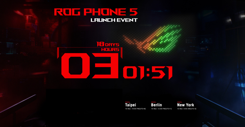 Официально: игровой смартфон ASUS ROG Phone 5 представят 10 марта