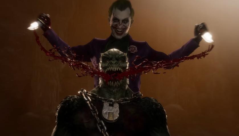 Вновом трейлере Mortal Kombat 11 Джокер вырезает улыбку Бараке икалечит Китану