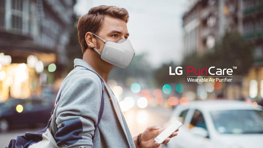 В Украине стартовали продажи LG Puricare — маски-очистителя воздуха с двумя фильтрами и автономностью до 8 часов