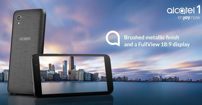 Alcatel представила Alcatel 1: полноэкранный супербюджетник на Android Go