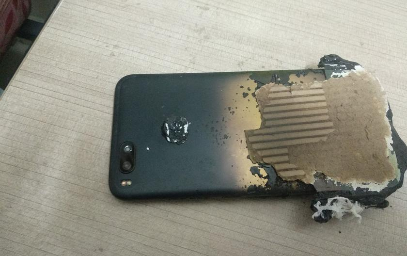 Батарея смартфона Xiaomi Mi A1 взорвалась возле спящего пользователя