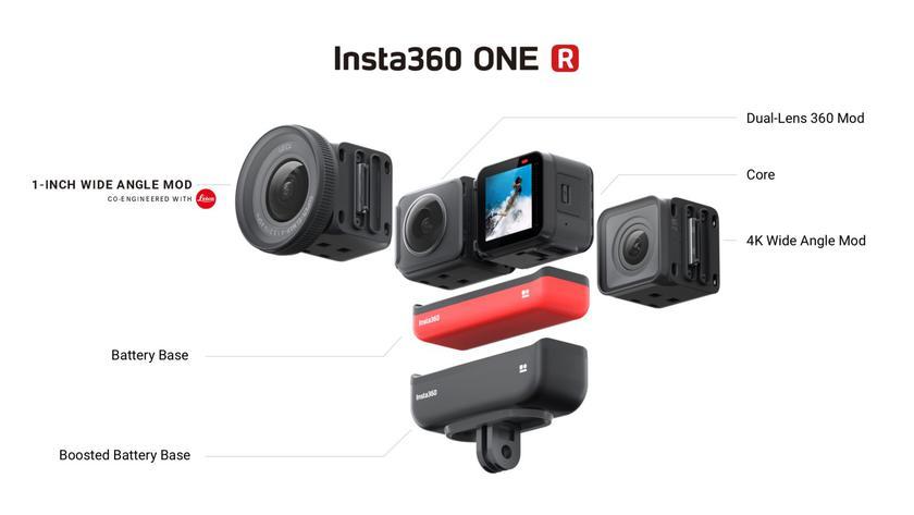 Insta360 ONE R: модульная экшен-камера с защитой IPX8 и опциональной оптикой Leica