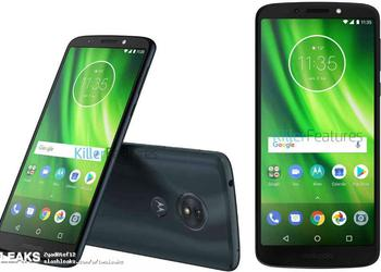 The frameless smartphone Moto G6 Play appeared on new renderings