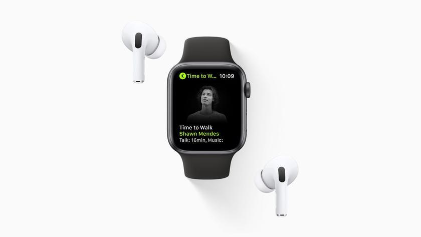 Apple представила функцию Time to Walk для Apple Watch и подписчиков Fitness+