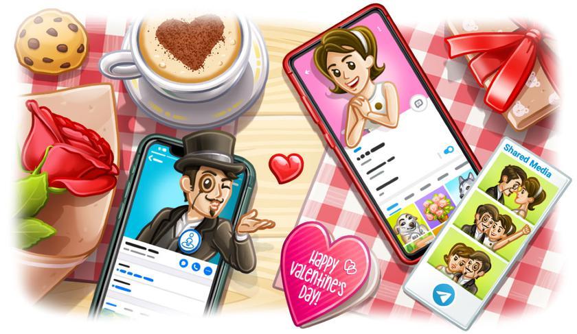 Telegram 5.15: обновлённый профиль, функция People Nearby 2.0 и новые анимированные эмодзи ко Дню святого Валентина