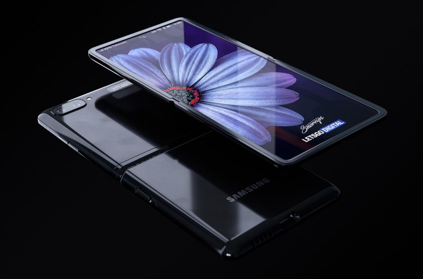В сети появились качественные рендеры Samsung Galaxy Z Flip: конкурент Motorola RAZR с «дырявым» гибким экраном и двойной камерой