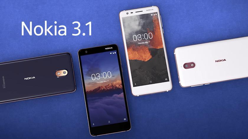 Смартфон Nokia 3.1 начал получать обновление Android 8.1 Oreo