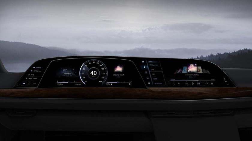 В Cadillac Escalade 2021 года будет использоваться тройной изогнутый 38-дюймовый P-OLED дисплей LG