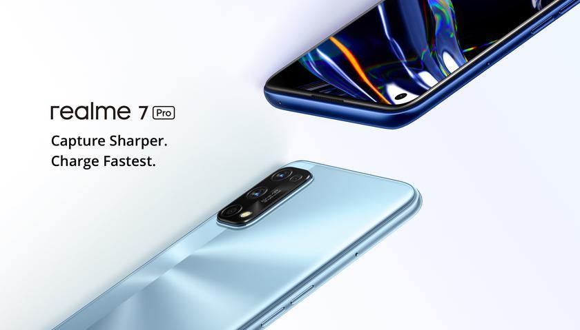 Realme 7 Pro: Super AMOLED-дисплей на 6.4″, чип Snapdragon 720G, квадро-камера на 64 Мп, батарея на 4500 мАч с 65-ваттной зарядкой и ценник от $272