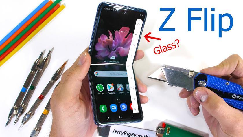 Дисплей Galaxy Z Flip покрыт обычным пластиком? Samsung заподозрили во лжи